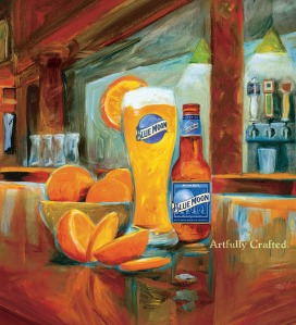 Beer advocates fiercely debate whether faux-microbrews like Blue Moon help or hurt the craft beer movement. Coors advertises the 'artfully crafted' ale without ever mentioning the beer's corporate overlord, despite the company's massive brand recognition. *Illustration*: Shelly Bartek